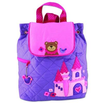 Childrens Personalised Backpack-Princess Castle Bear Design