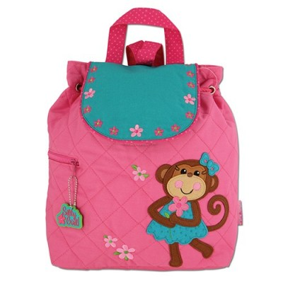 Childrens Personalised Backpack-Monkey Girl Design