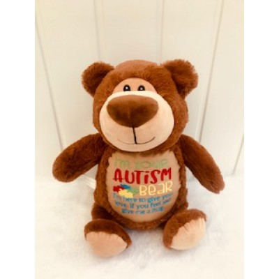 Personalised Autism- Cubby Teddy Bear