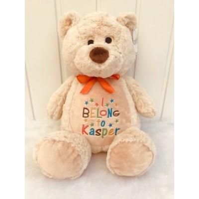 Personalised Teddy Bear Light Brown