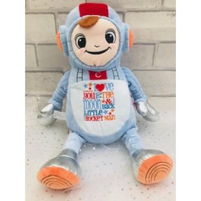 Personalised Space Man Teddy Bear