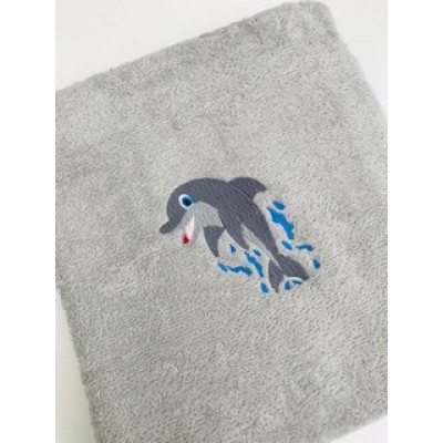 Personalised Bath Towel-Dolphin