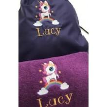 Personalised Unicorn Swim/Gym Bag