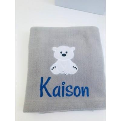 Personalised Baby Blanket-polar Bear