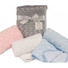 Personalised Luxury Rose Swirl Blanket- Assorted Colours