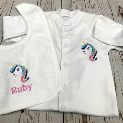 Personalised New Baby Girl Gift Set-Unicorn