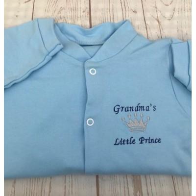 Personalised Baby Boy Sleepsuit-Little Prince
