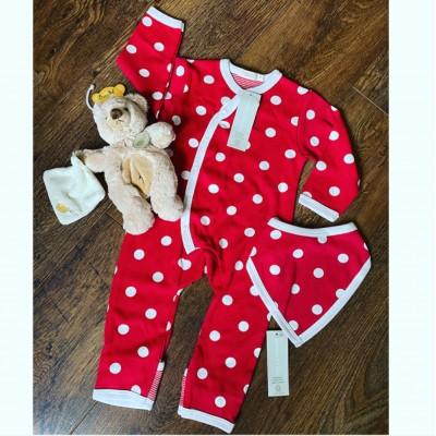 Personalised Organic Spotty sleepsuit
