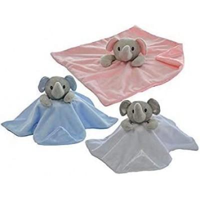 Personalised New Baby Comforter- Elephant