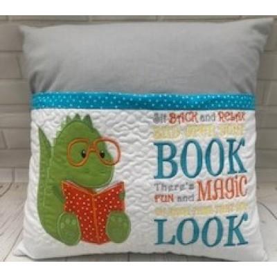 Personalised Reading Book Cushion-Dinosaur