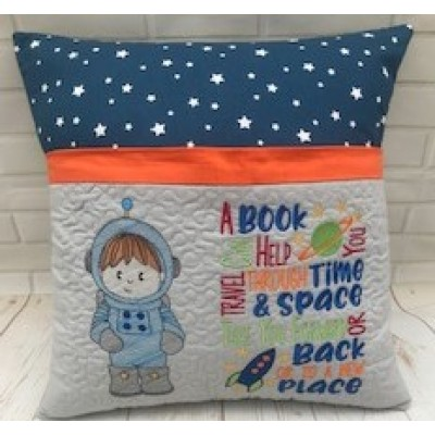 Personalised Reading Book Cushion-Space Boy