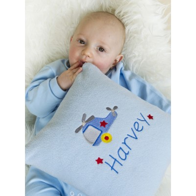 Personalised Baby Boy Cushion-Helicopter