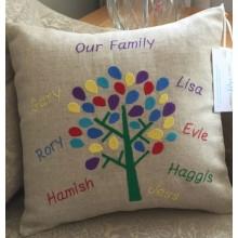 Personalised Family Tree Cushion