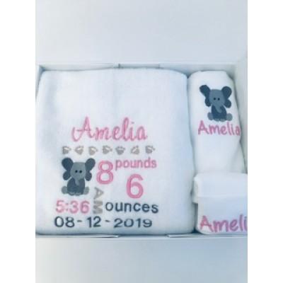 New Baby Gift Set- Little Elephant Girl/Boy