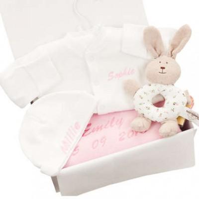 Personalised Little Bunny Gift Set- Girl/Boy