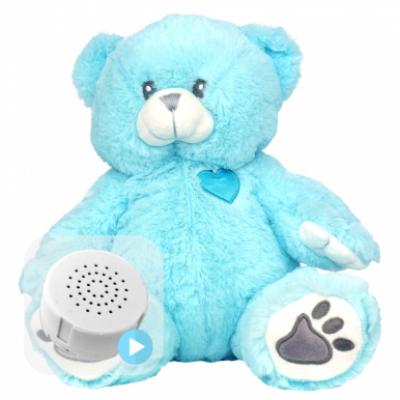 Blue Heartbeat Teddy Bear